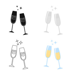 champagne glass icon of for vector image