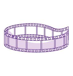 Tape cinema isolated icon vector