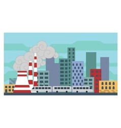City landscape in a flat design vector image
