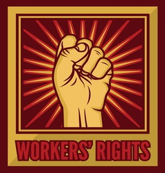 fist worker right1 resize vector image