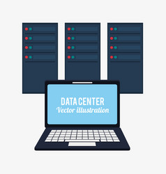 laptop data center system developer vector image