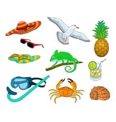 summer color doodles vector image
