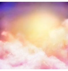 Sunrise Sky Painting Background vector image vector image