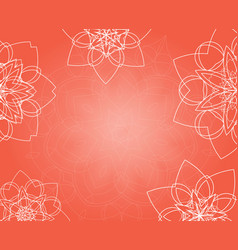 abstract pink background with tribal floral vector image