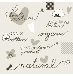 Cotton design elements vector image vector image