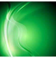 Elegant green wavy background vector image vector image