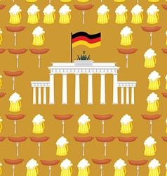 German seamless ornament Symbols of Germany beer vector image