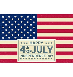 Happy Independence Day background template Happy vector image vector image