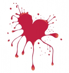 heart with blood vector image vector image