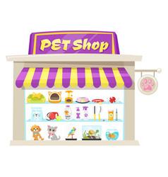 pet shop facade vector image