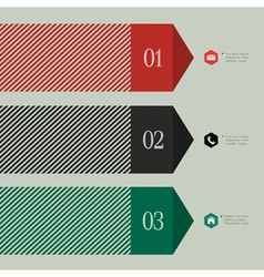 Trendy banner arrow design for infographics vector image vector image