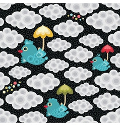 weather birds pattern vector image vector image