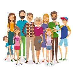 Big happy family Several generations vector image