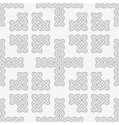 celtic knot cross seamless vector image