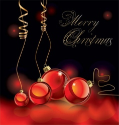 Christmas design black and red vector image