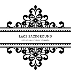 Decorative lace frame vector image