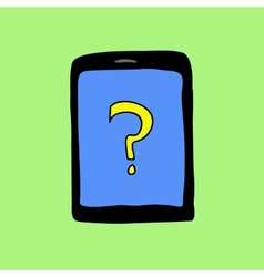 Doodle pad with question mark vector image vector image