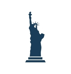 Flat icon on white background statue of liberty vector