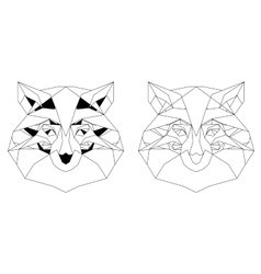 Front View of fox head triangular icon vector image
