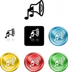 speaker sound icons vector image vector image