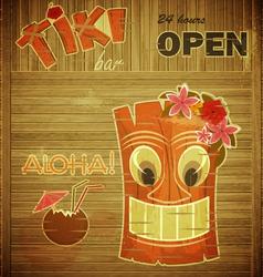 Vintage design hawaii menu vector image vector image