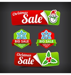 022 Collection of colorful Merry Christmas web tag vector image