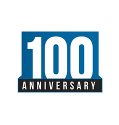 100th anniversary icon birthday logo vector image