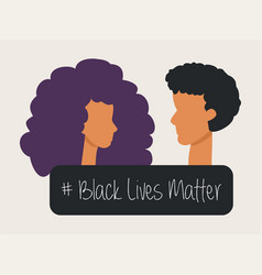 A afro american woman and man victims racism vector