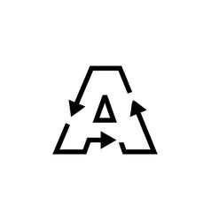 A letter recycle logo icon vector