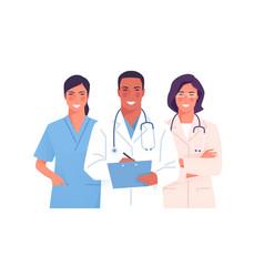 A medical team group vector