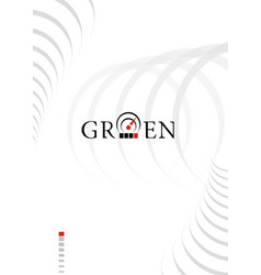 Abstract blank with sensor logotype title page vector