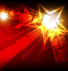 abstract star light vector image vector image
