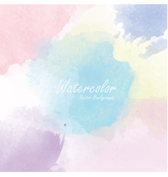 Abstract watercolor background template vector
