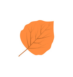 Aspen leaf logo vector