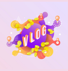 Background with neon colored liquid drops vector