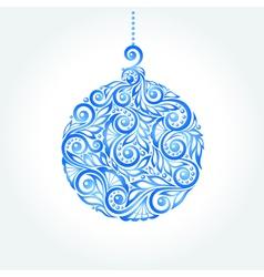 beautiful blue Christmas ball vector image
