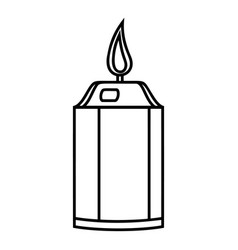 beautiful candle icon outline style vector image