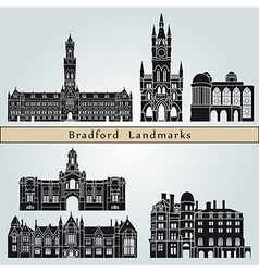 Bradford landmarks and monuments vector image