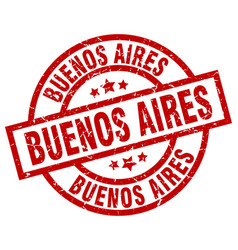 Buenos aires red round grunge stamp vector