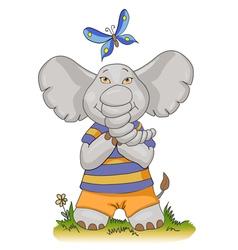 Cartoon baby elephant vector