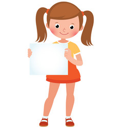 cartoon of a cute little girl in vector image