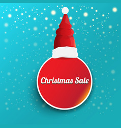 Christmas sales paper banner or tag label vector