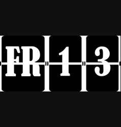 Concept black friday 13th flat design vector