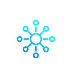 Connections connect icon vector