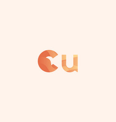 Copper cu chemical element vector