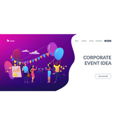 Corporate party concept landing page vector