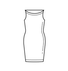Corsage dress line icon vector