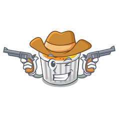 Cowboy food creme brule cartoon ready eat vector