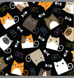 Cute cats wallpaper vector