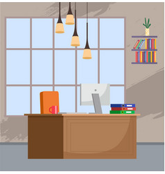 design directors workplace creative office vector image